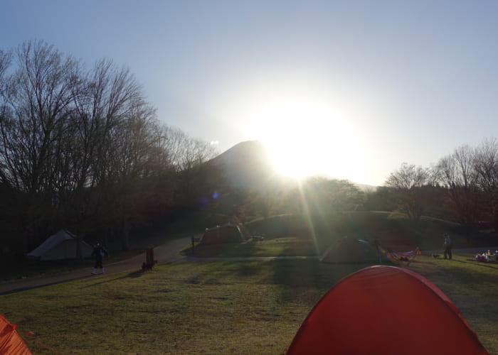 Yamakaraはじめてのテント泊in田貫湖と長者ヶ岳2日間の様子