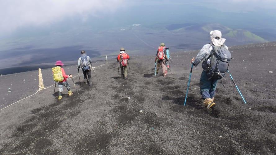 富士登山大砂走り