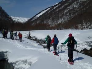 谷川岳山麓スノーシュートレッキング
