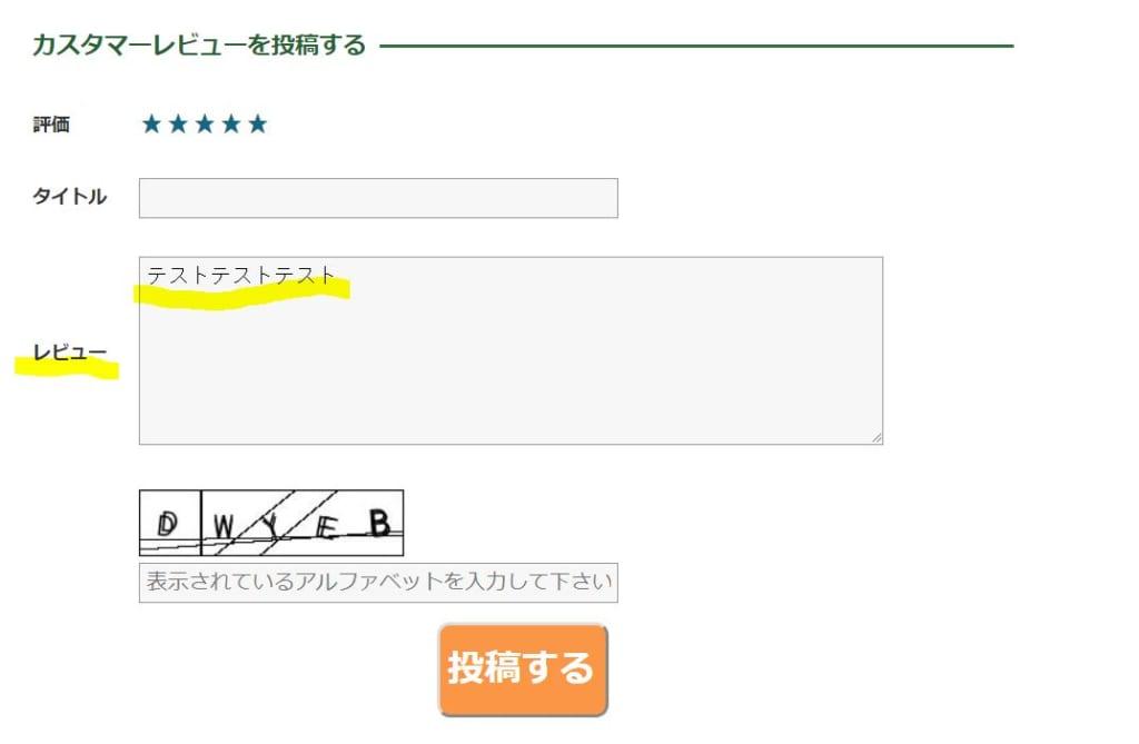レビュー登録方法②