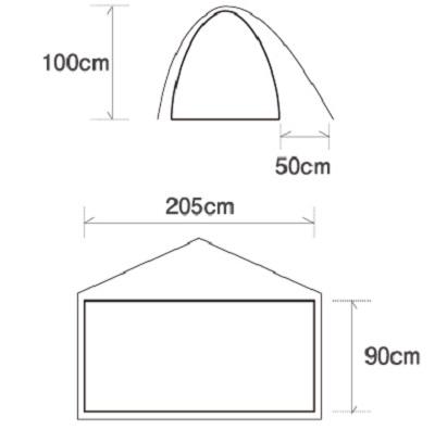 【1人用テント】ファイントラック カミナドーム1