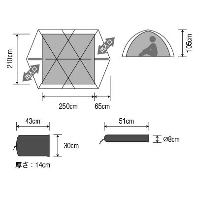【5-6人用テント】ダンロップ タフコンディション・アルパインテント V-6