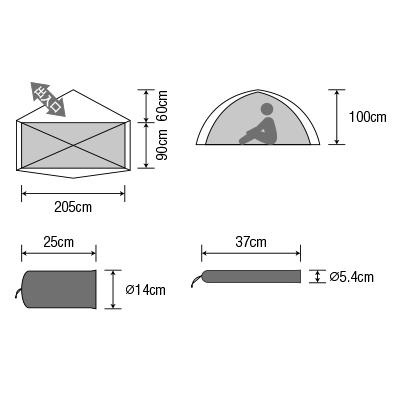 【1人用テント】ダンロップ コンパクト登山テント VS-10