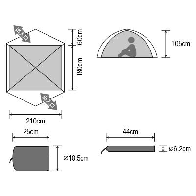【3-4人用テント】ダンロップ コンパクト登山テント VS-40